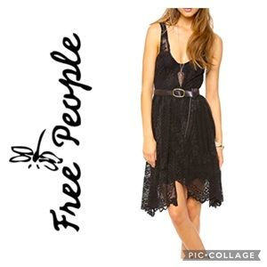 Free People Salinas Lace Foil Overlay Dress *NWT*